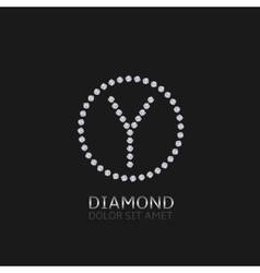 Y letter with diamonds vector image