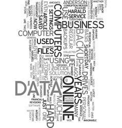 your data is your life text word cloud concept vector image