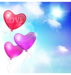 background card or banner balloons vector image vector image