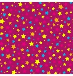 Bright stars pink seamless pattern vector