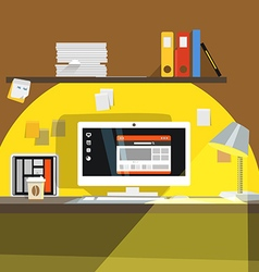Interior of Working place vector image vector image