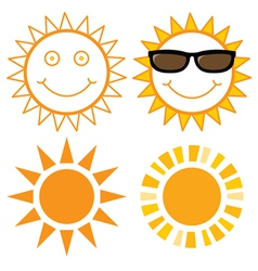 Set of Suns vector image vector image