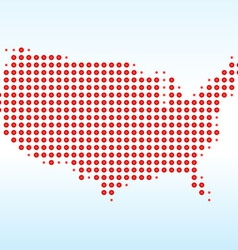 USA Dotted Map vector image