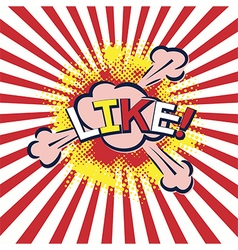 word like in popart style vector image vector image