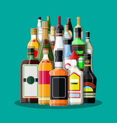 alcohol drinks collection vector image