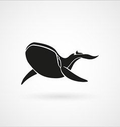 BLUE WHALE black logo sign emblem isolated vector image vector image