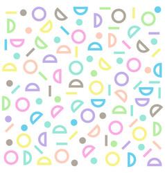circle half-circle line pattern colorful pastel vector image vector image