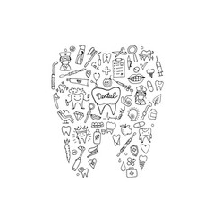 dental clinic concept sketch for your design vector image vector image