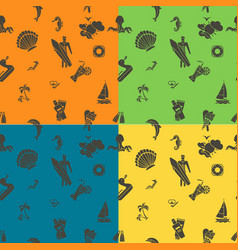 four background in different colors vector image