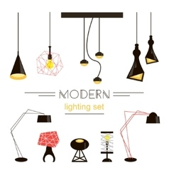 Modern light collection isolated on white vector image