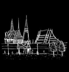 old city of bangkok vector image