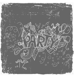 Party theme holiday vector image
