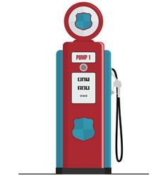 retro gas pump vector image