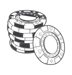 Stacks of gambling chips casino tokens vector image