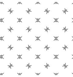Stars geometric seamless pattern 2708 vector image vector image