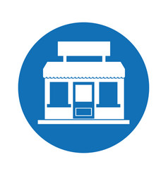 store building isolated icon vector image vector image
