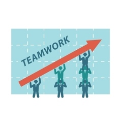 Teamwork of business people vector image vector image