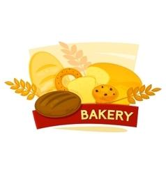 Bakery concept design vector image vector image