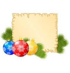 christmas blank vector image vector image