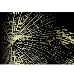 Golden metallic background vector image