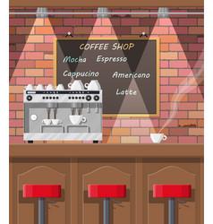interior of coffee shop pub cafe or bar vector image