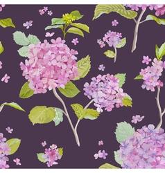 Vintage hydrangea background - seamless pattern vector
