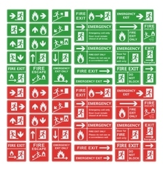 Exit sign set isolated vector image