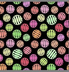 geometric seamless pattern on black vector image vector image