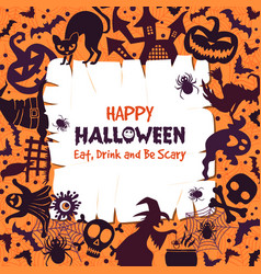 invitation for halloween party scary background vector image vector image