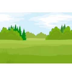 Landscape Summer Forest Low Poly vector image