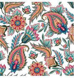 Seamless paisley pattern vector