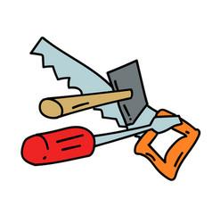tools hand drawn image vector image