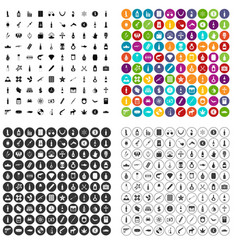 100 smuggling goods icons set variant vector