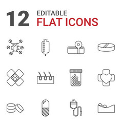 12 treatment icons vector