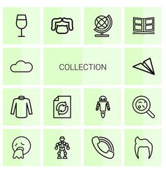 14 collection icons vector