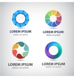 Abstract colorful shiny modern logo icon vector
