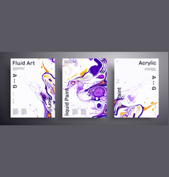 Abstract poster texture pack fluid art vector