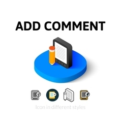 Add comment icon in different style vector
