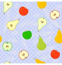apple pear seamless grunge v vector image