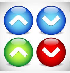 Arrow arrowhead icons arrow buttons up and down vector