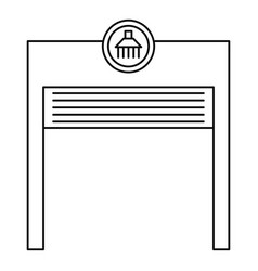 Automatic car wash garage icon outline style vector
