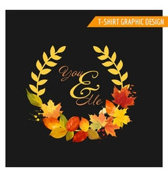 Autumn shabchic graphic design vector
