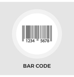 Bar code flat icon vector image