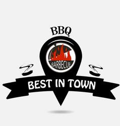 barbecue logo location vector image