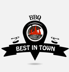 barbeque logo location vector image