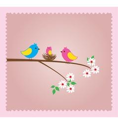 Bird family vector