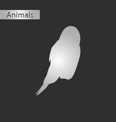 Black and white style icon owl vector