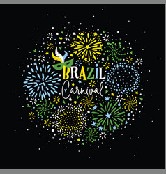 Brazil carnival party greeting card invitation vector
