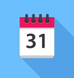 Calendar icon Flat Design vector image