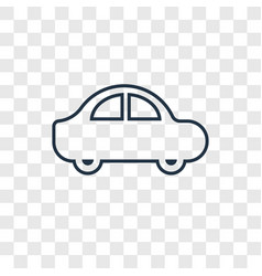 car concept linear icon isolated on transparent vector image